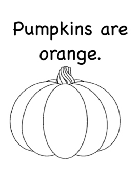 All About Orange (Color, vocabulary, speech, autism)