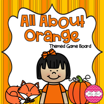 All About Orange Themed Game Board