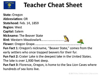 All About Oregon | US States | Activities & Worksheets