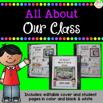 All About Our Class - an editable class book