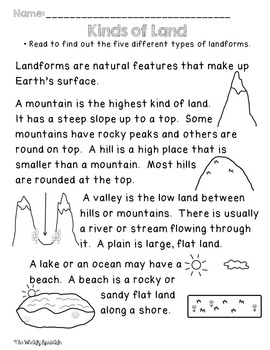 All About Our Earth: A look at landforms and bodies of water!