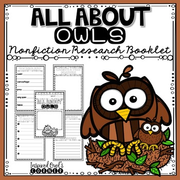 All About Owls Nonfiction Research Booklet