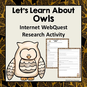 Owls Webquest Reading Research Activity Common Core
