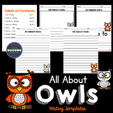 All About Owls: Writing Templates