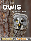 All About Owls- science vocabulary, writing, literacy and math centers!