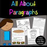 All About Paragraphs Writing Journal, Lessons and Activities