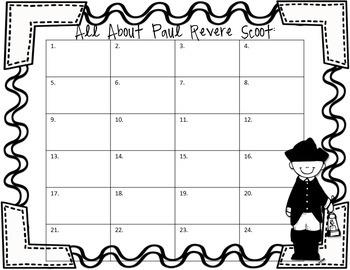Paul Revere Task Cards