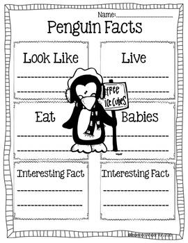 All About Penguin Informational Writing Common Core Aligned