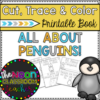 """All About Penguins"" Cut, Trace & Color Printable Book!"