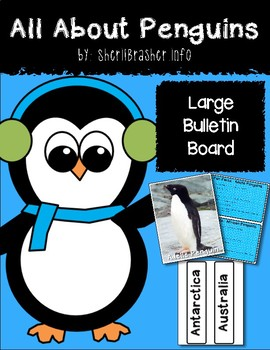 All About Penguins Large Bulletin Board Set