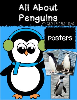 All About Penguins Large Poster Set