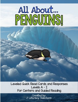 All About Penguins! Leveled Quick Read Cards and Response