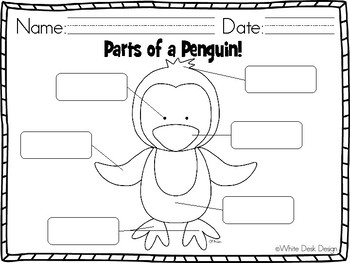All About Penguins Literacy and Math Activities