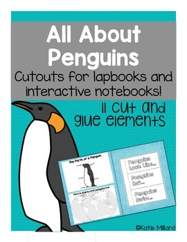 All About Penguins - Penguin Lapbook/Interactive Notebook