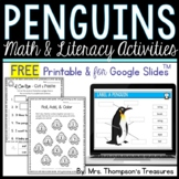 Penguin Activities FREE