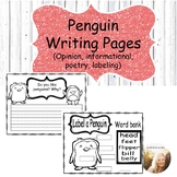 All About Penguins Writing pages