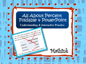 All About Percent Interactive Foldable and PowerPoint Presentation