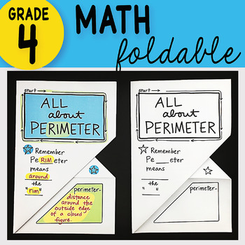 Math Doodle - All About Perimeter ~ INB Foldable Notes ~