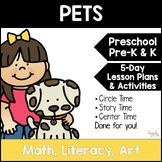 All About Pets 5-Day Lesson Plan for Preschool, PreK, K & Homeschool