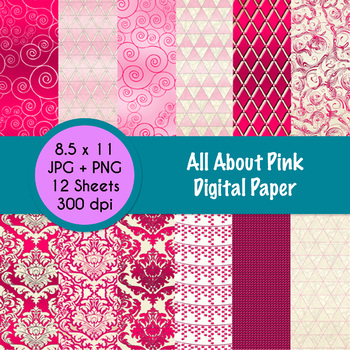 All About Pink - Digital Paper