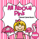 All About Pink Themed Game Board