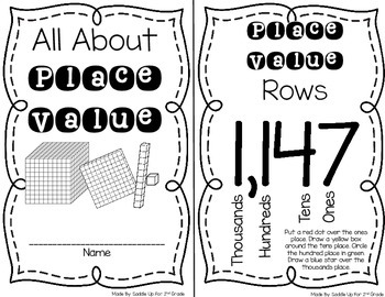 All About Place Value Booklet FREEBIE