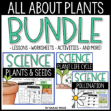 All About Plants Worksheets Bundle: Life cycles, Needs, Parts, & Pollination