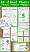 All About Plants: Activities and Plant Life Cycle Science Notebook