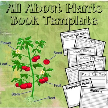 All About Plants Book Template
