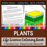 Plants Coloring Book and Reading Passages | Printable & Digital