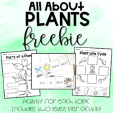 All About Plants Freebie - Parts, Life Cycle, What Plants Need
