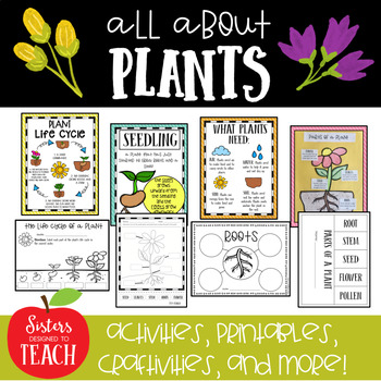 All About Plants (Parts of Plants, Life Cycle, Craftivity, Assessment)