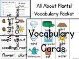 All About Plants! Vocabulary Packet for Plant Life Cycle & Gardening