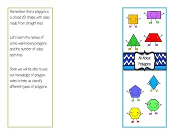 All About Polygons Foldable