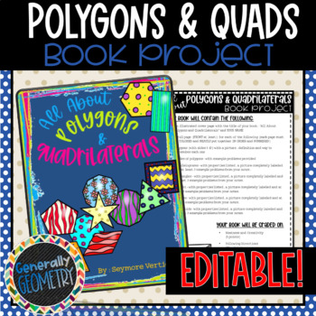 """""""All About Polygons and Quadrilaterals"""" Book Project, Geometry"""