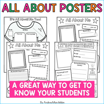 All About Me Posters Plus More