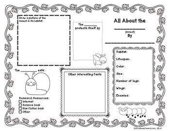 """All About"" Science: Animal, Insect, and Plant Graphic Organizers"