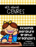 """All About"" Genres: Fictional Literature Graphic Organizers"