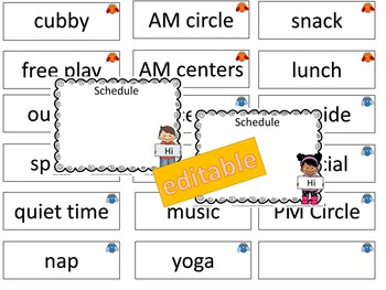 Planning For the YEAR! PreK-K Schedules, Center Ideas and more! (editable)