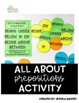 All About Prepositions Activity