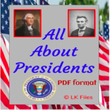 All About Presidents - A Presidents' Day Activity and Report