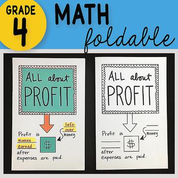 Math Doodle - All About Profit ~ INB Foldable Notes ~