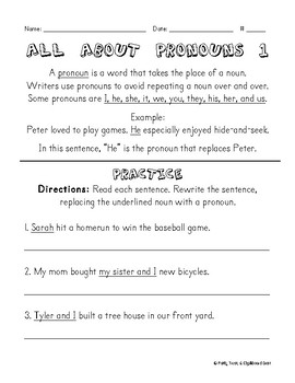 All About Pronouns {PREVIEW}
