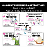 All About Pronouns and Contractions Game Pack