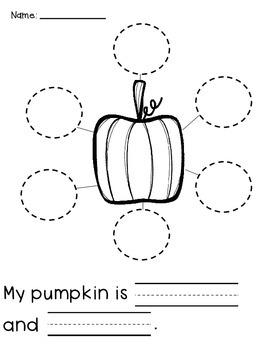 All About Pumpkin Activities