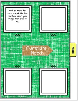 All About Pumpkins Book Student Nonfiction Writing Presentations EDITABLE