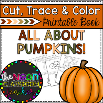 All About Pumpkins!  Cut, Trace and Color Printable Book