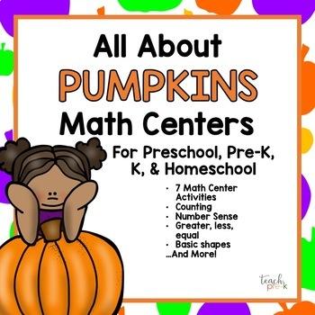 Prek Pumpkin Math Teaching Resources | Teachers Pay Teachers