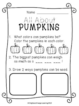 All About Pumpkins - Pebble Go Research Introduction