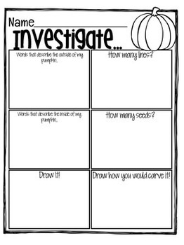 All About Pumpkins { Printables, Graphic Organizers, Craftivity, Anchor Charts }
